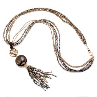 Peyote Bird Designs Bead Tassel Necklace