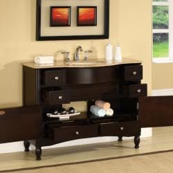 exclusive travertine countertop double stone sink bathroom vanity