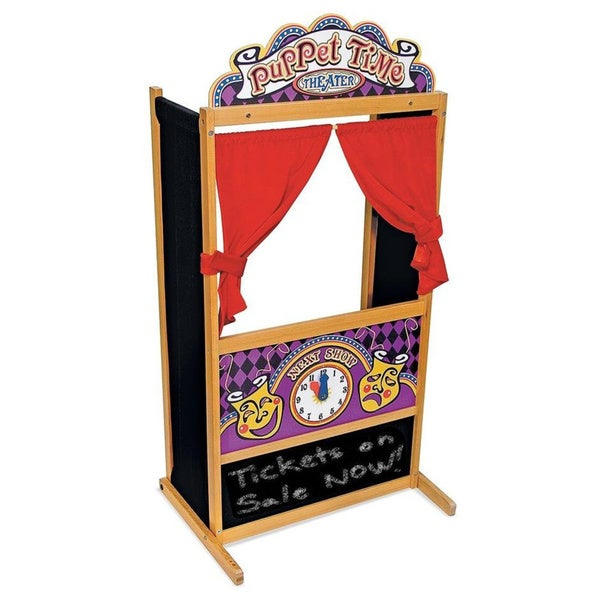 Melissa & Doug Deluxe Puppet Theater Play Set