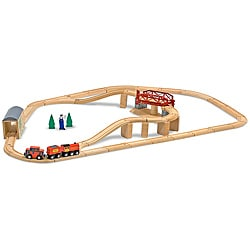 Melissa & Doug Swivel Bridge 45-piece Train Set