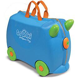 Melissa & Doug Blue Trunki Terrance Ride-on Luggage
