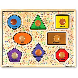 Melissa & Doug Large Shapes Jumbo Knob Play Set