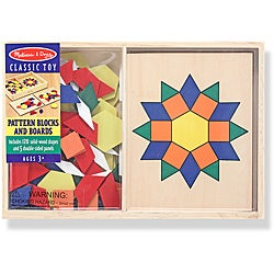 Melissa & Doug Pattern Blocks and Boards Play Set