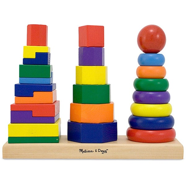 Melissa & Doug Geometric Stacker Set