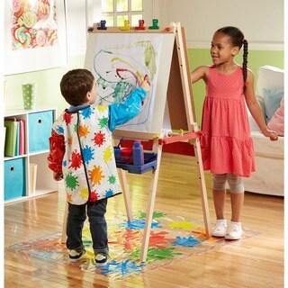 Melissa & Doug Deluxe Wooden Standing Art Easel Set