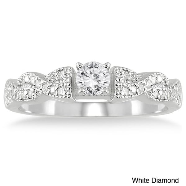 10k White Gold 1/2ct TDW Diamond Engagement Ring (I-J, I2-I3)