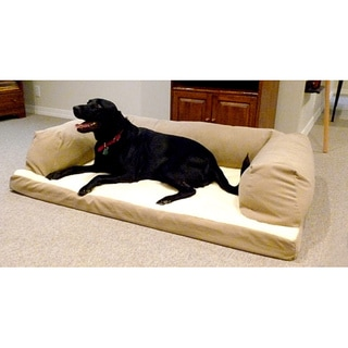 Hidden Valley Extra-large Tan Baxter Orthopedic-foam Dog Couch