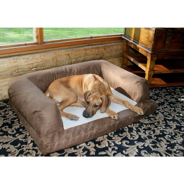 Hidden Valley Large Baxter Dog Couch in Chocolate (As Is Item)