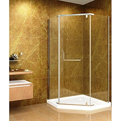 Aston 36x36 8mm Neo-Angle Glass Shower Enclosure/ Acrylic Base