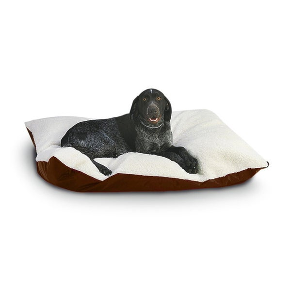 Hidden Valley Extra Large Tan Rectangle Ultra Sherpa Dog Bed