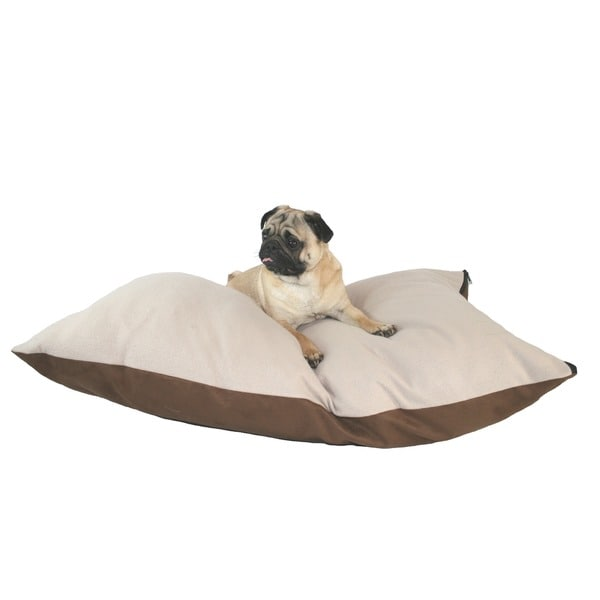 Hidden Valley Medium Chocolate Rectangle Ultra Sherpa Dog Bed
