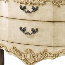 Hand Painted Chestnut and Beige Finish Accent Chest