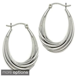 Sunstone Sterling-Silver High-Polished Hoop Earrings