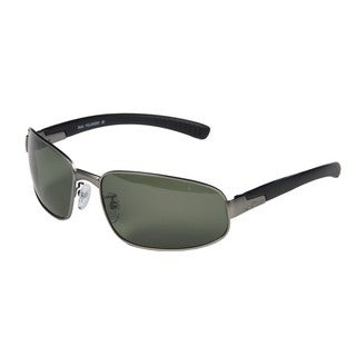 Bolle Men's Mingo Satin Gunmetal Wrap Sunglasses