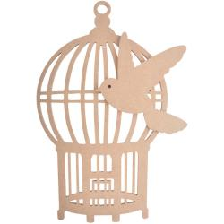 Beyond The Page MDF Oriental Birdcage With Bird