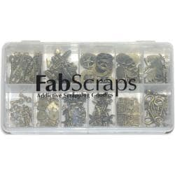Fabscraps Boxed Charm 'Old Brass 1' Embellishment Assortment (Case of 110)