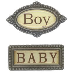 Baby Boy Metal Embellishment