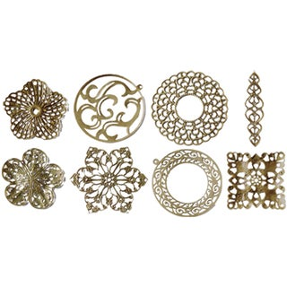 Fabscraps 'Old Brass 2' Boxed Filigree Embellishment (Case of 80)