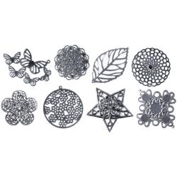 Boxed Filigree Embellishment Assortment(80 pieces)