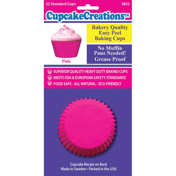 Cupcake Creation Pink Standard Baking Cups (Case of 32)