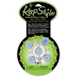 Kapstyle Girly Metal Flowers Blue Jewelry Kit