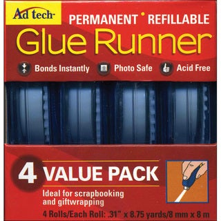 Ad-Tech Permanent Glue Runner (Pack of 4)