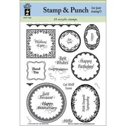 Hot Off The Press 'Stamp & Punch' Acrylic Stamps Sheet