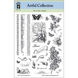 Hot Off The Press Artful Collection Acrylic Stamps Sheet