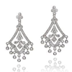 Icz Stonez Sterling Silver Cubic Zirconia Chandelier Earrings