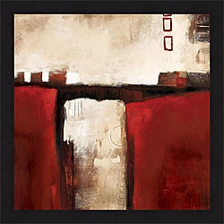 L. Austin 'Red Trestle' Framed Print