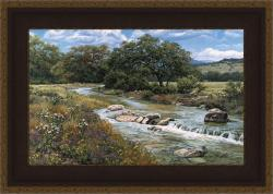 Greg Glowka 'Comal Creek' Framed Print