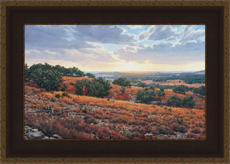 Greg Glowka 'Smithson Valley Sunset' Framed Print