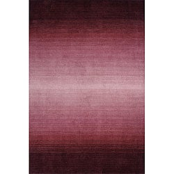 Hand-tufted Manhattan Ombre Plum Wool Rug (5'0 x 8'0)