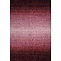Hand-tufted Manhattan Ombre Plum Wool Rug (5'0 x 8'0)