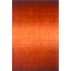 Hand-tufted Manhattan Ombre Orange Wool Rug (5'0 x 8'0)