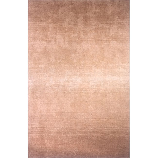 Manhattan Ombre Khaki Hand-Loomed Wool Rug (3'3 x 5'3)