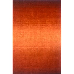 Hand-tufted Manhattan Ombre Orange Wool Rug (8'0 x 11'0)