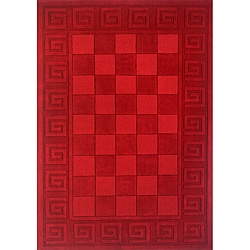 Hand-tufted Manhattan Red Wool Rug (8'0 x 11'0)