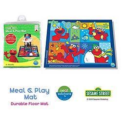 Neat Solutions Sesame Street Vinyl Floor and Meal Mat