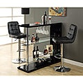 Black and Chrome Metal 48-inch Bar Table