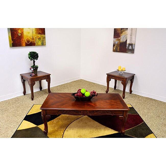 Carmela Cherry Coffee Table Set