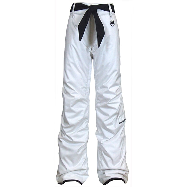 Boulder Gear Girl's 'Fly By' White/ Black Snow Pants