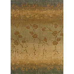 Berkley Blue Transitional Area Rug (5'3 x 7'6)