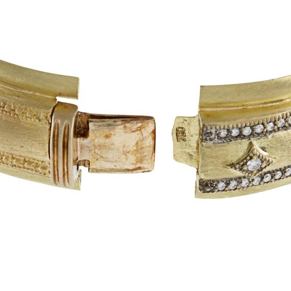 18K Yellow Gold 1 1/2ct TDW Estate Bangle Bracelet (G-H, SI1-SI2)