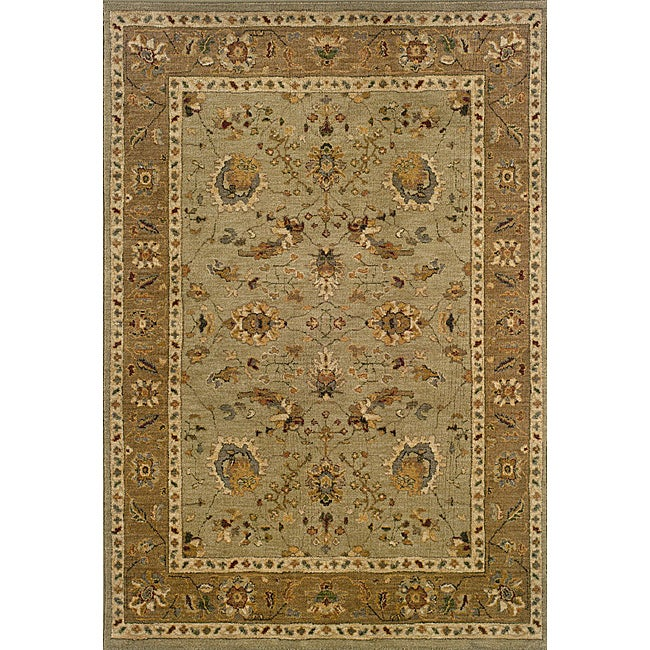Berkley Green/Tan Traditional Area Rug (3'10 x 5'5)