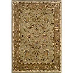 Berkley Green/Tan Traditional Area Rug (3'10 x 5'5)