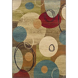 Gold/Brown Contemporary Area Rug (6'7 x 9'6)