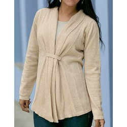 Women's Alpaca Wool 'Dunes' Cardigan Sweater (Peru)
