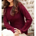 Women's Alpaca Wool 'Burgundy Flirt' Sweater (Peru)