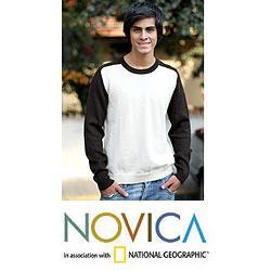 Men's Alpaca Wool 'Modern Inca' Sweater (Peru)